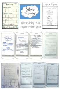 SilverLining App Paper Prototype