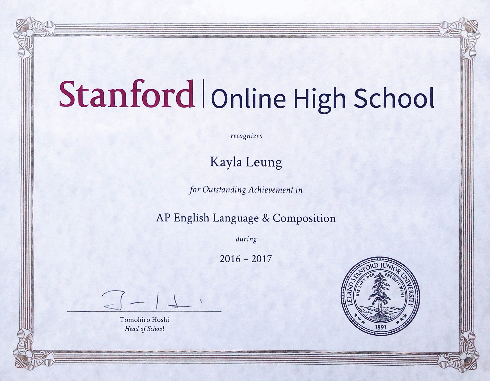 Online Course Stanford Online Course